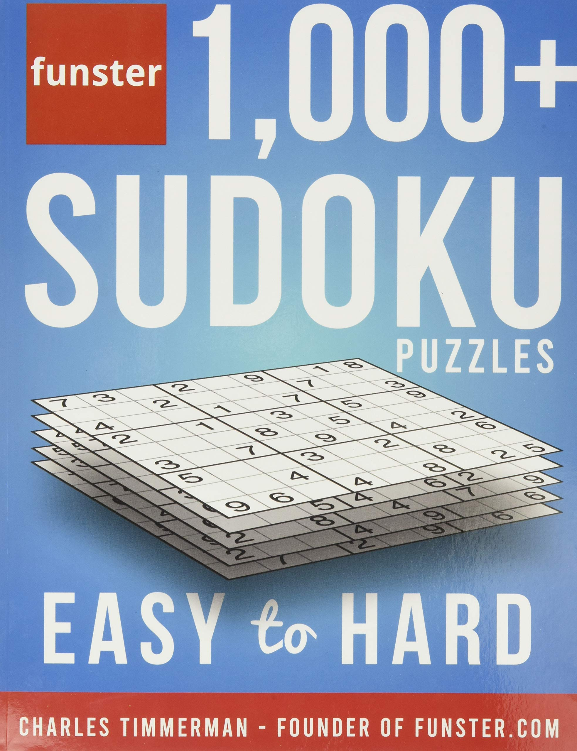 Funster 1000 + Sudoku Puzzles Easy to Hard Sudoku Puzzle Book for Adults